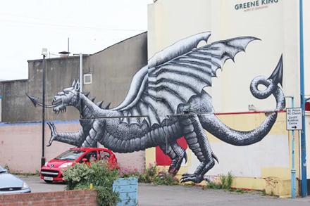 Street art in Cardiff